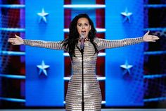<3 Singer Katy Perry performs during the final day of the Democratic National Convention in Philadelphia, on Thursday, July 28, 2016. Yessss! Love her! <3 (J. Scott Applewhite; AP Photo)