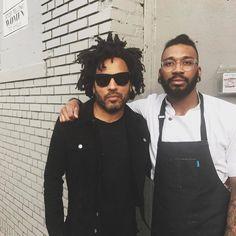 Lenny Kravitz and Chef KPE