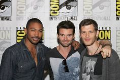THE ORIGINALS guys (L-R) stars Charles Michael Davis, Daniel Gillies and Joseph Morgan