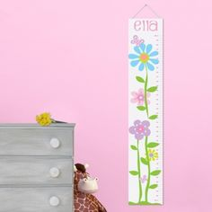 IDEA for gift: get canvas, paint basic growth chart stuff on it, and have it at baby shower for people to draw or write advice at certain points of the chart!