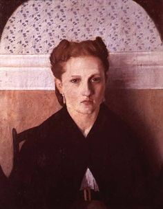 Portrait of the Artist's Wife by Adriano Cecioni.