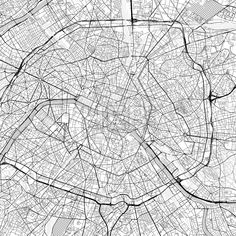 Paris downtown vector map in light version with many details for high zoom levels. This map of Paris, France, contains typical landmarks with room for... ... #download #map #infographic  #marketing #travel #city #germany #german# #beautiful #map #communication #design #background #hebstreit