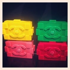 Chanel Lego bags. Stack 'em up.