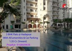 #3BHK Flats @ Hadapsar  With All Amenities  & Car Parking   1.35 Cr. Onward.  #PropKat- 9168609838 #Pune #FlatsInPune #PropertyInPune #Hadpsar #MagarpattaCity
