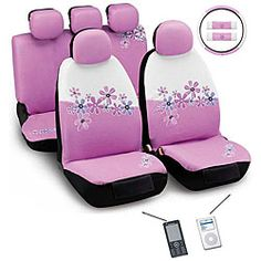 @Overstock.com - Customize your car with a 12-piece pink and white daisy flowers montage automotive seat cover set. This set includes a steering wheel cover, seat covers, seat belt covers, and even head rest covers so you can have a car full of daisies.http://www.overstock.com/Home-Garden/Daisy-Flowers-Pink-and-White-12-piece-Automotive-Seat-Cover-Set/5083833/product.html?CID=214117 $70.99