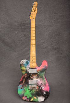 Fender American Vintage '72 Telecaster Thinline guitar in Limited Edition Coldplay Mylo Xyloto graffiti finish
