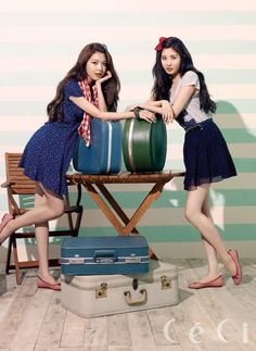 SNSD Seo Hyun and Soo Young - Ceci Magazine March Issue '13