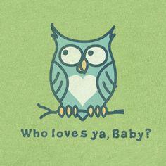 Women's Who Loves Ya Baby Short Sleeve Crusher Tee | Life is good