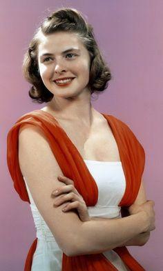 Ingrid Bergman. #actresses #IngridBergman