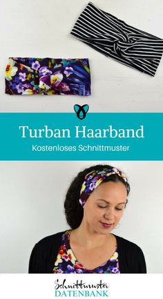 d3a6f0c3e9af Turban Haarband Accessoire Frauen Kostenloses Schnittmuster kostenlose  Nähanleitung Stirnband