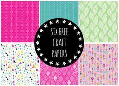 No Money? No Problem? 6 Free Craft Papers