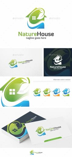Nature House - Logo Template by putra_purwanto Nature House Logo Template100 Re-sizable vector 100 Editable text Easily customizable colors AI & EPS documents For any modifi
