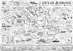 Placemat design for new restaurant - Dulse & Brose.