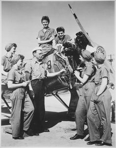A Group of Women Prepare to Take Over Maintenance Responsibilities for Aircraft, 1940-1945