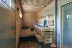 Saunagalleria I SUN SAUNA Oy I Ideoita saunaremonttiin, saunaideat Sauna Design, Finnish Sauna, Spa Rooms, Surf Shack, Saunas, Bathtub, Bathroom, Interior, House