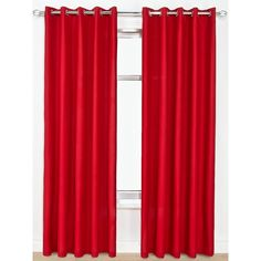 Canvas Lightweight Eyelet Unlined Curtains ($23) ❤ liked on Polyvore featuring home, home decor, window treatments and curtains