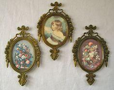 Vintage Trio Metal Frames 3 Ornate Italy each 6 by VivaVera, $20.00