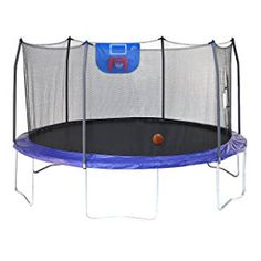 Round Trampoline with Enclosure - Purple - Spring into some fun with the Skywalker Trampolines 15 ft. Round Trampoline with Enclosure - Purple . This 15 ft. trampoline was made with your family's. Trampoline Safety, Backyard Trampoline, Trampoline Ideas, Trampoline Parts, Basketball Skills, Basketball Hoop, Trampolines, Trampoline Reviews, Things That Bounce