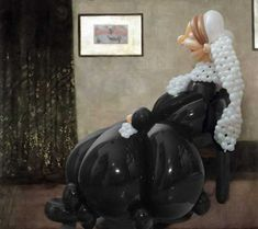Great balloon master work: Whistle-Air's Mother - Based on James McNeil Whistler's Portrait of his Mother.