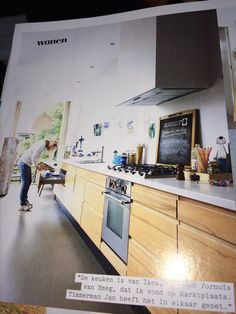 Mooie lange keuken