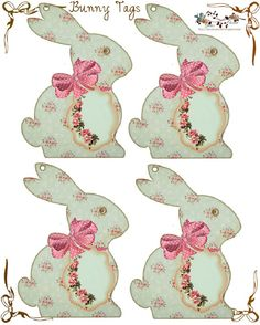 Bunny Tags for Easter