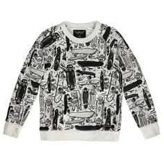 Finger in the nose Hank Skateboards sweater Teen Girl Fashion, Kids Fashion, Black And White Prints, Black And Grey, Skateboard Boy, Stoff Design, Eleven Paris, Kid Styles, Pulls