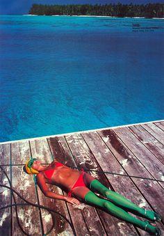 Marie Helvin by David Bailey. Vogue Italia 1976