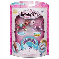Twisty Petz - - Glitzy Panda, Fluffles Bunny and Surprise Collectible Bracelet Set for Kids: Toys Games: New Releases - Early Bird Special Toys For Girls, Kids Toys, Pet Toys, Toys Uk, Master Pack, Pets 3, Bubble Gum, Bracelet Set, Panda