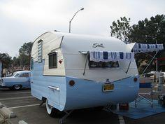 Shasta Travel Trailer - 1956  Laguna Beach, California.