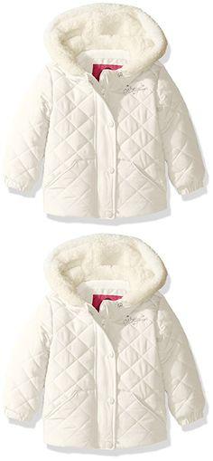 Calvin Klein Baby Girls' Hooded Velour Pram, Vanilla, 0-3 Months ...