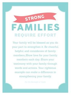 "Come Follow Me YW Lesson Handout ""Why is Family Important?"" Young Womens August Lesson Printables"