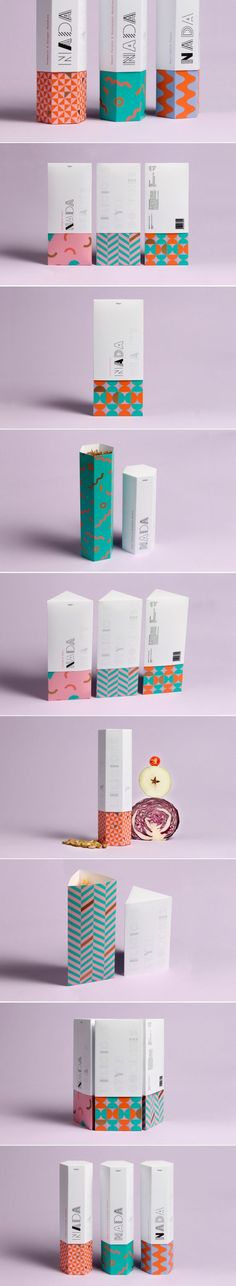 Nice use of pattern, if it was a retro style print contrasted with modern clean graphics Retro Packaging, Clever Packaging, Toy Packaging, Food Packaging Design, Packaging Design Inspiration, Brand Packaging, Branding Design, Ticket Design, Design Poster