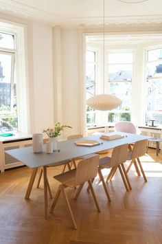 Hay House Copenhagen - I like these interios - Hay House Copenhagen decdesignecasa. Dining Room Design, Dining Area, Dining Table, Hay Design, Sweet Home, George Nelson, Home Fashion, Home And Living, Living Room