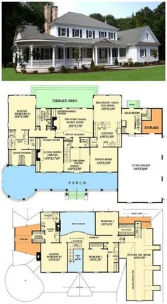 Love this floor plan for a big house. The upstairs master for guest room. Best Modern Farmhouse Floor Plans that Won People Choice Award Tags: farmhouse sink, farmhouse table, farmhouse decor, farmhouse kitchen, farmhouse plans Farmhouse Floor Plans, Farmhouse Flooring, Modern Farmhouse, Farmhouse Table, Farmhouse Decor, Farmhouse Layout, Home Floor Plans, Southern Farmhouse, Kitchen Floor Plans