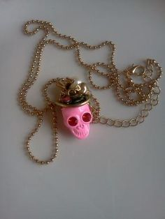 Betsey Johnson Cowgirl Skull Necklace