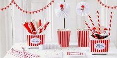 milleideeperunafesta: Circo: festa a righe bianche e rosse