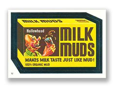 Wacky Packages OPC Album Series 1982 - Milk Muds - #52