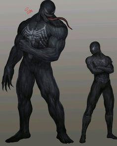Black is the new spiderman Marvel Venom, Marvel Art, Marvel Dc Comics, Marvel Heroes, Marvel Avengers, Comic Collage, Comic Art, Venom Art, Marvel Drawings
