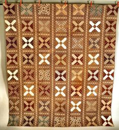 Snowflake Cotton Pieced Quilt  ca. 1860-1880