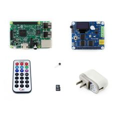 Raspberry Pi 3 Package B including Raspberry Pi 3 Model B with Expansion Board Pioneer600 and 16GB Micro SD card & IR Controller