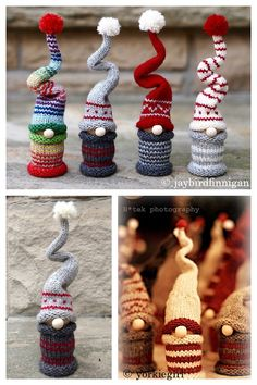 Knitting Machine Patterns, Christmas Knitting Patterns, Christmas Decorations To Make, Christmas Crafts, Xmas, Christmas Knomes, Quick Knitting Projects, Knitted Dolls, Craft Fairs