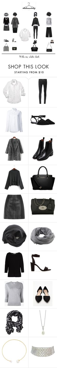 """With my white shirt"" by french-gal ❤ liked on Polyvore featuring Helmut Lang, STELLA McCARTNEY, Misha Nonoo, MICHAEL Michael Kors, Mulberry, Fingers Crossed, Coal, Betty Barclay, Zara and Frame"