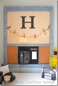 pottery barn inspired message board