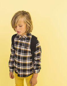 Boys' chequered shirt