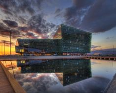 The Icelandic scale of modern architecture, the Harpa Concert Hall and Conference Centre in Reykjavik, received the Mies van der Rohe Award as Europe's best, contemporary building.