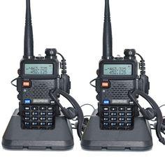 2 sztuk baofeng uv-5r walkie talkie 128 dwuzakresowy uhf i vhf 136-174 mhz i 400-520 mhz baofeng uv 5r radio 5 w dwukierunkowy Radio