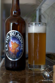 La Fin Du Monde #Beer from #Chambly #Quebec Beer Pictures, Root Beer, Quebec, Pint Glass, Beer Bottle, Mugs, Canning, Drinks, Cups
