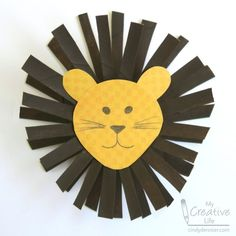 Cardboard Tube Lion Turn a cardboard tube into a lion using a clever technique. Its easy to do and costs practically nothing. The post Cardboard Tube Lion was featured on Fun Family Crafts. Lion Kids Crafts, Jungle Crafts, Lion Craft, Recycled Crafts Kids, Animal Crafts For Kids, Family Crafts, Paper Crafts For Kids, Fun Crafts, Art For Kids