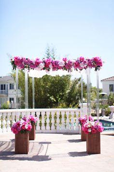 Wedding arch/chuppah. Flowers!