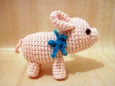 Porkie the Piggy amigurumi crochet pattern by Sweet N' Cute Creations